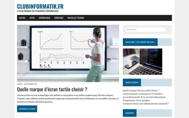 clubinformatik.fr - Le club français des passionnés d'informatique